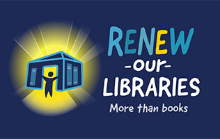 Renew Our Libraries logo